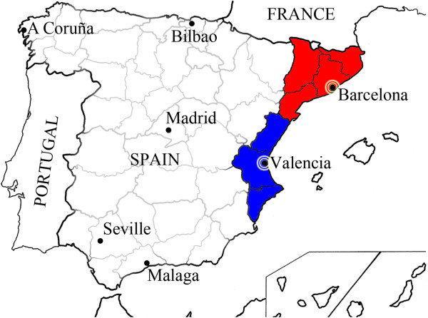 Costa De Barcelona Mapa.Barcelona Mapa Valencia Mapie Barcelony Do Walencji Costa